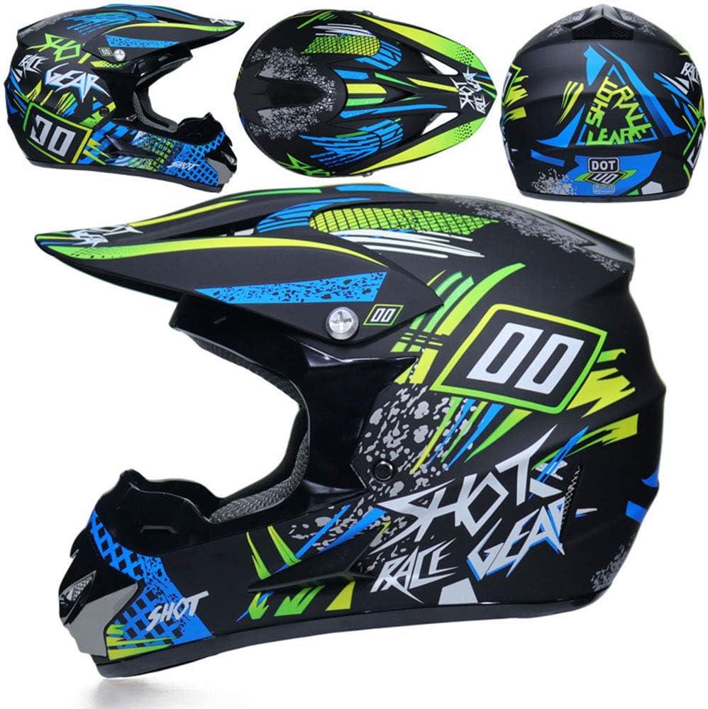 Cheyal Adult Motocross Helmet Mx Motorcycle Helm Atv Scooter Atv Helm D O T Certified Rockstar Multicolor Mit Goggles Gloves Mask S M L Xl Sport Freizeit