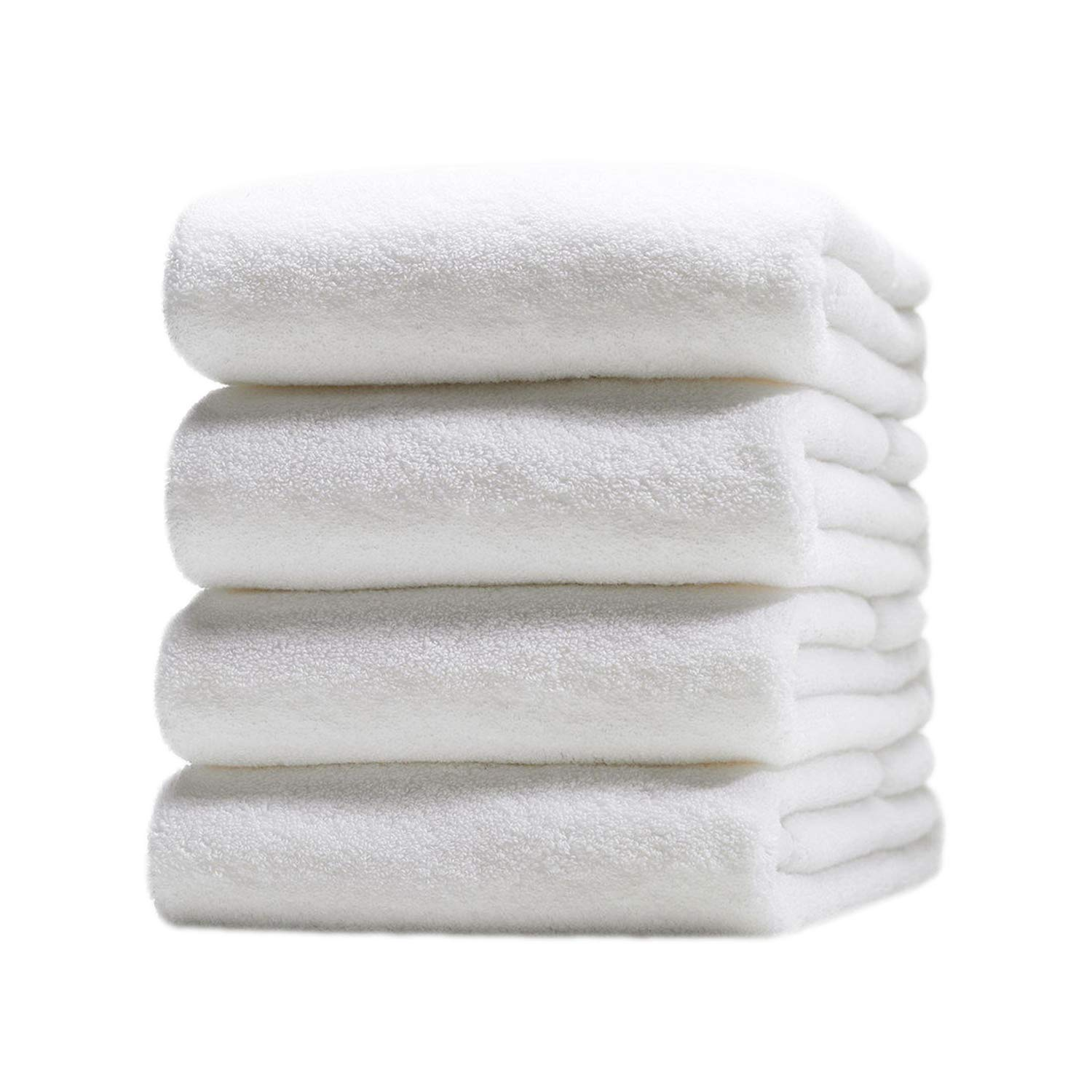 Livingtex 100 Pack White Bath Sheet Cotton Extra Large Luxury Towels 35 x 70-Inch 600 GSM Soft Water Absorbance Economy Pack Hotel, Spa, Salon