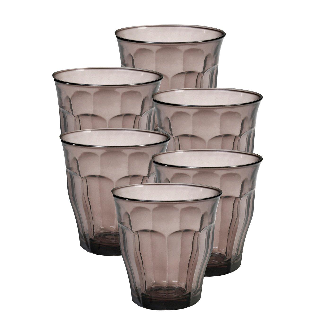 Duralex - Picardie vasos de colores, 250 ml. 8 3/4 oz juego de 6: Amazon.es: Hogar