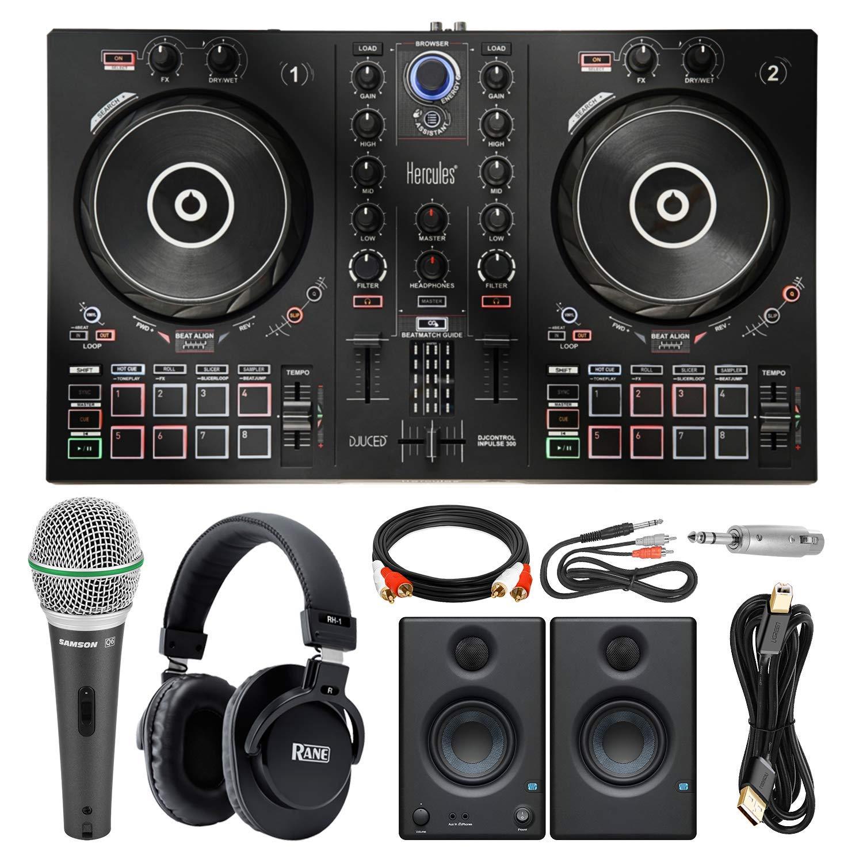 Platinum Accessory Bundle Headphones Speakers Hercules DJContorl Inpulse 300 Controller