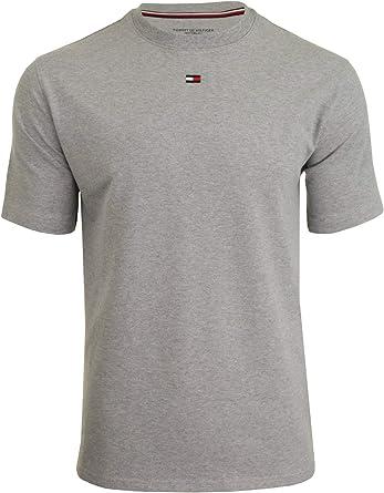 Tommy Hilfiger CN T Shirt Grey HTHR: Amazon.co.uk: Clothing