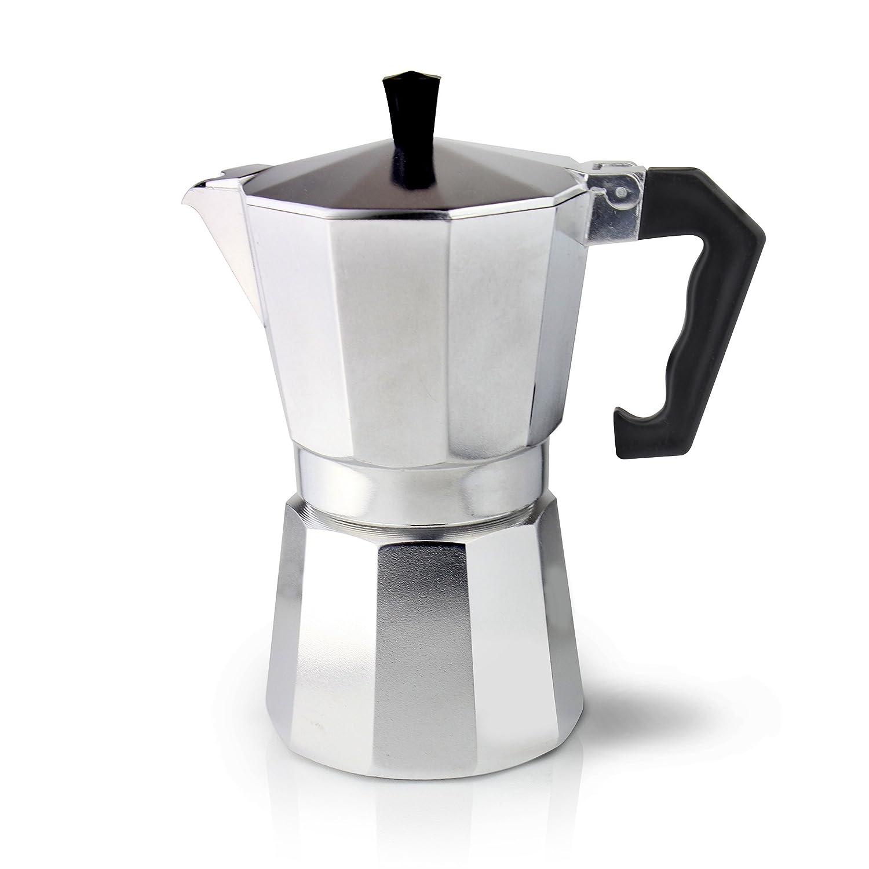 Cafe Ole Kaffeebereiter Italienischer Stil Aluminium für 3Tassen Espresso 3 Cup (120ml) 3 Cup (120ml) Grunwerg ECM-03