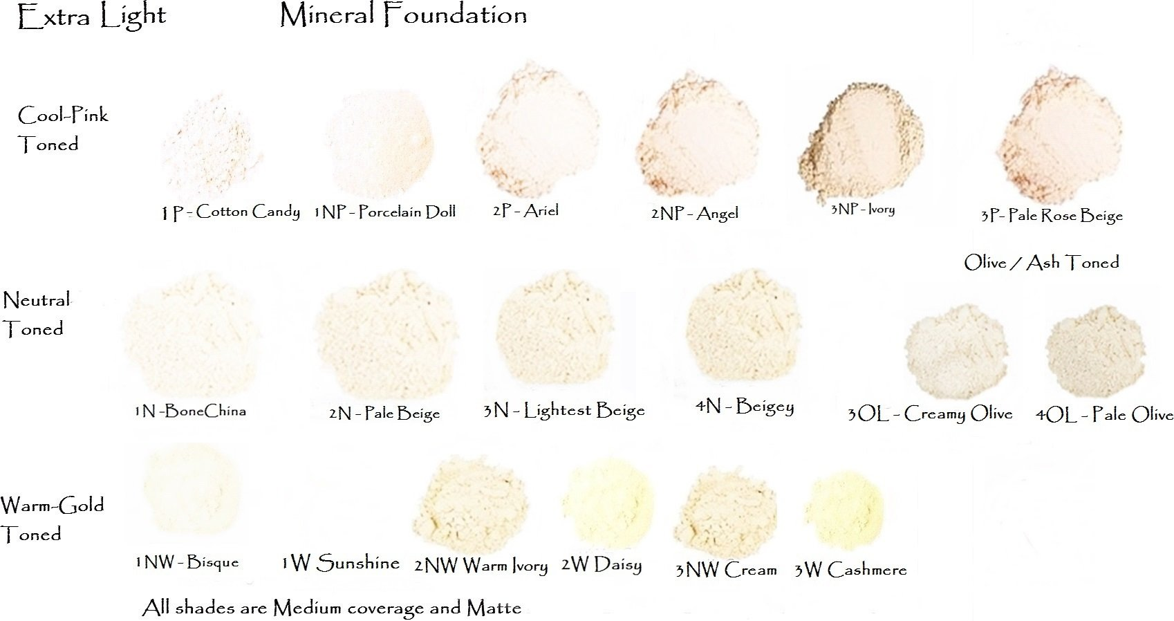 Warm Ivory - Light Medium Warm Beige Loose Mineral Foundation - All Natural 50gm Jar