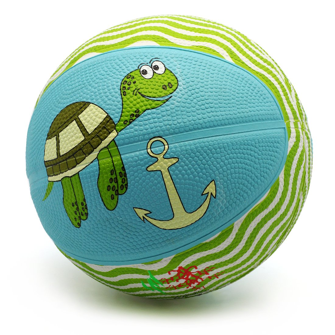 Picador Cute Cartoon Design Basketball Indoor/Outdoor Sport Ball for Kids, Children's Day, Youth, Scool, Girls, Boys, Kindergarten, Size 3 (Turtle)