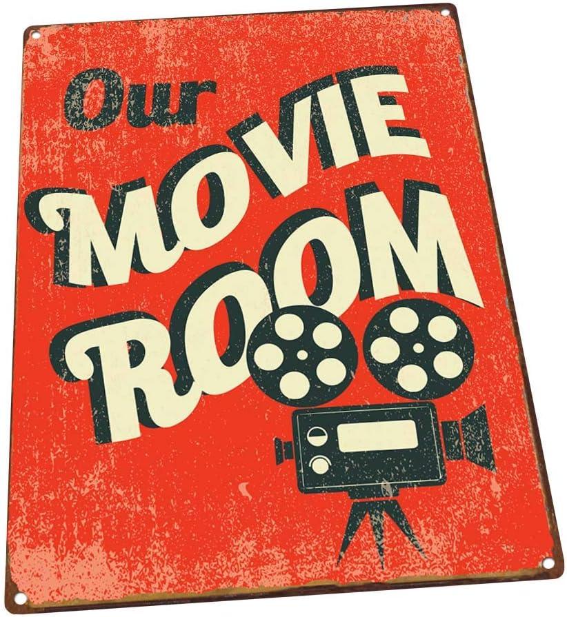 Our Movie Room Metal Sign, Den Décor, Home Theater, Home Cinema, Den Décor