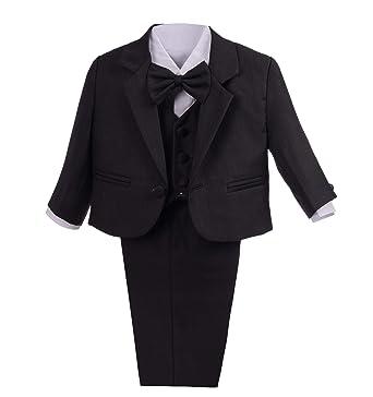 57ec8d3f873 Amazon.com  Dressy Daisy Baby Boys Formal Dress Suits Wedding Suits Outfit  Classic Fit 5 Pcs Set  Clothing