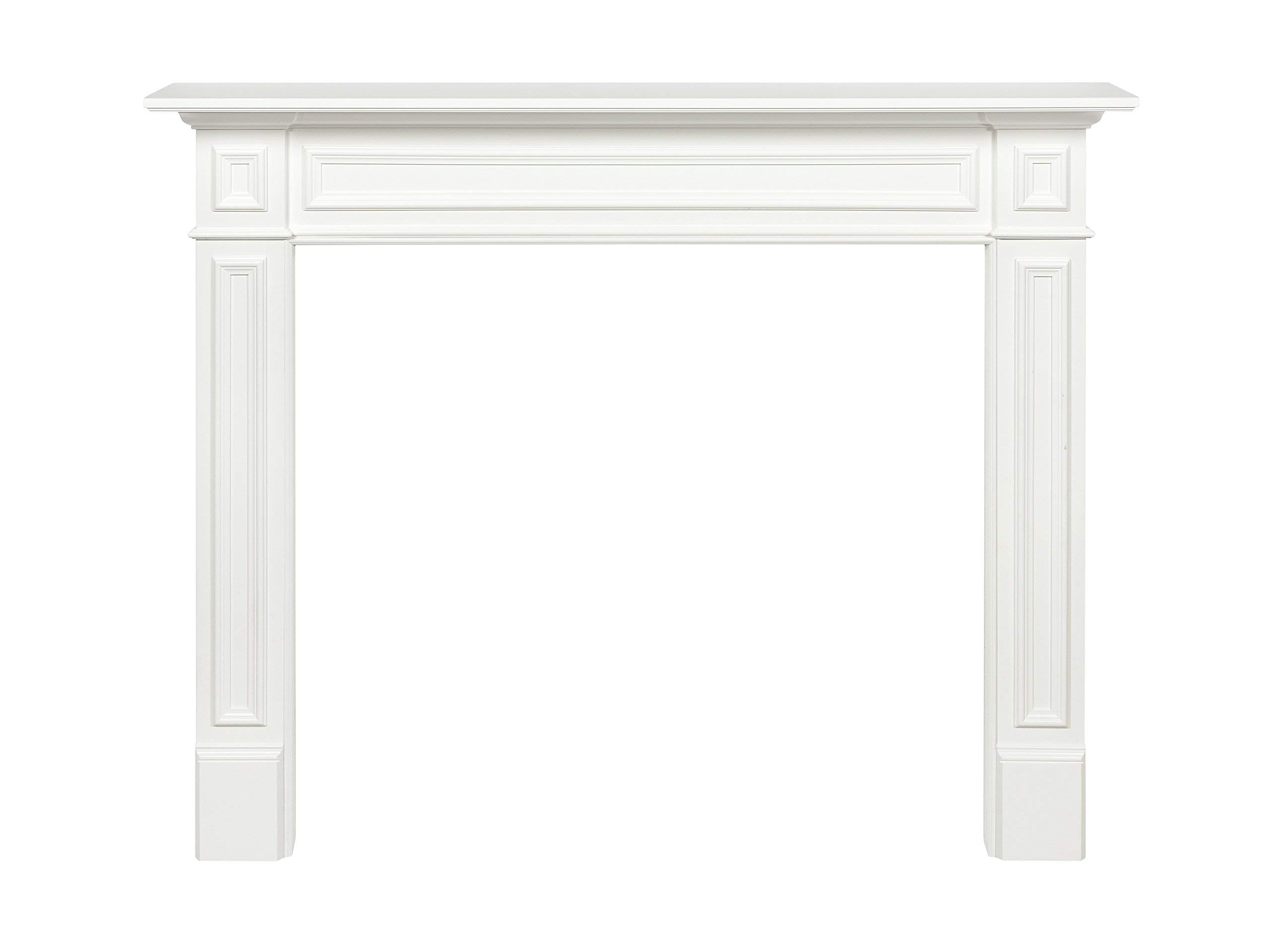 Pearl Mantels 525-48 Mike Fireplace Mantel Surround MDF, 48-Inch, White 48 Inch (Renewed) by Pearl Mantels