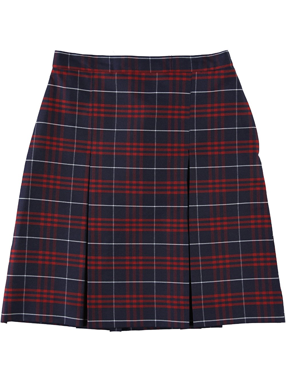 Cookie's Brand Big Girls' Box Pleat Skirt - navy/red/whiteplaid #37, 7
