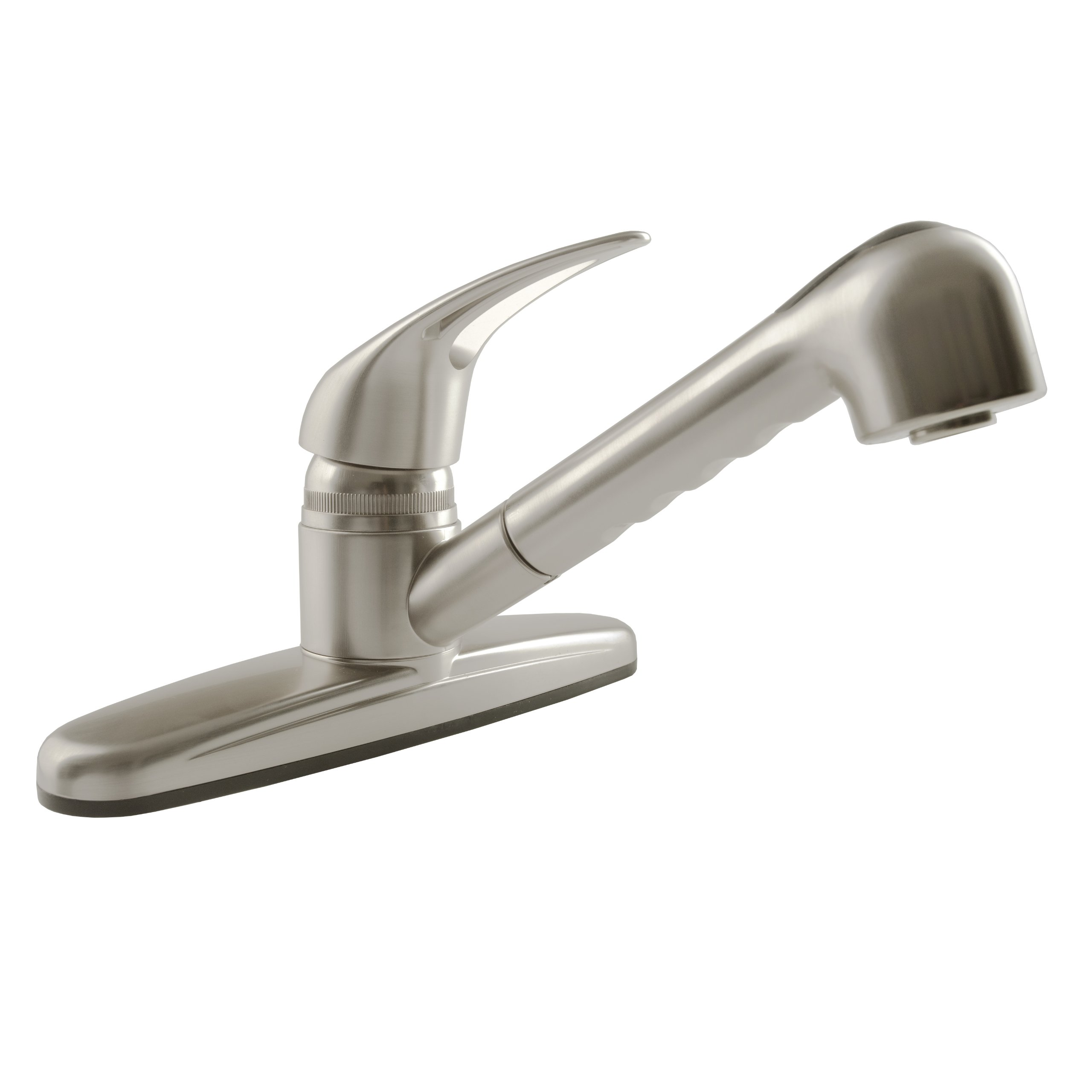 Dura Faucet RV Pull Out Kitchen Faucet - Non-Metallic Replacement for Motorhomes, Trailers, 5th Wheels and Campers (Brushed Satin Nickel) by Dura Faucet (Image #1)