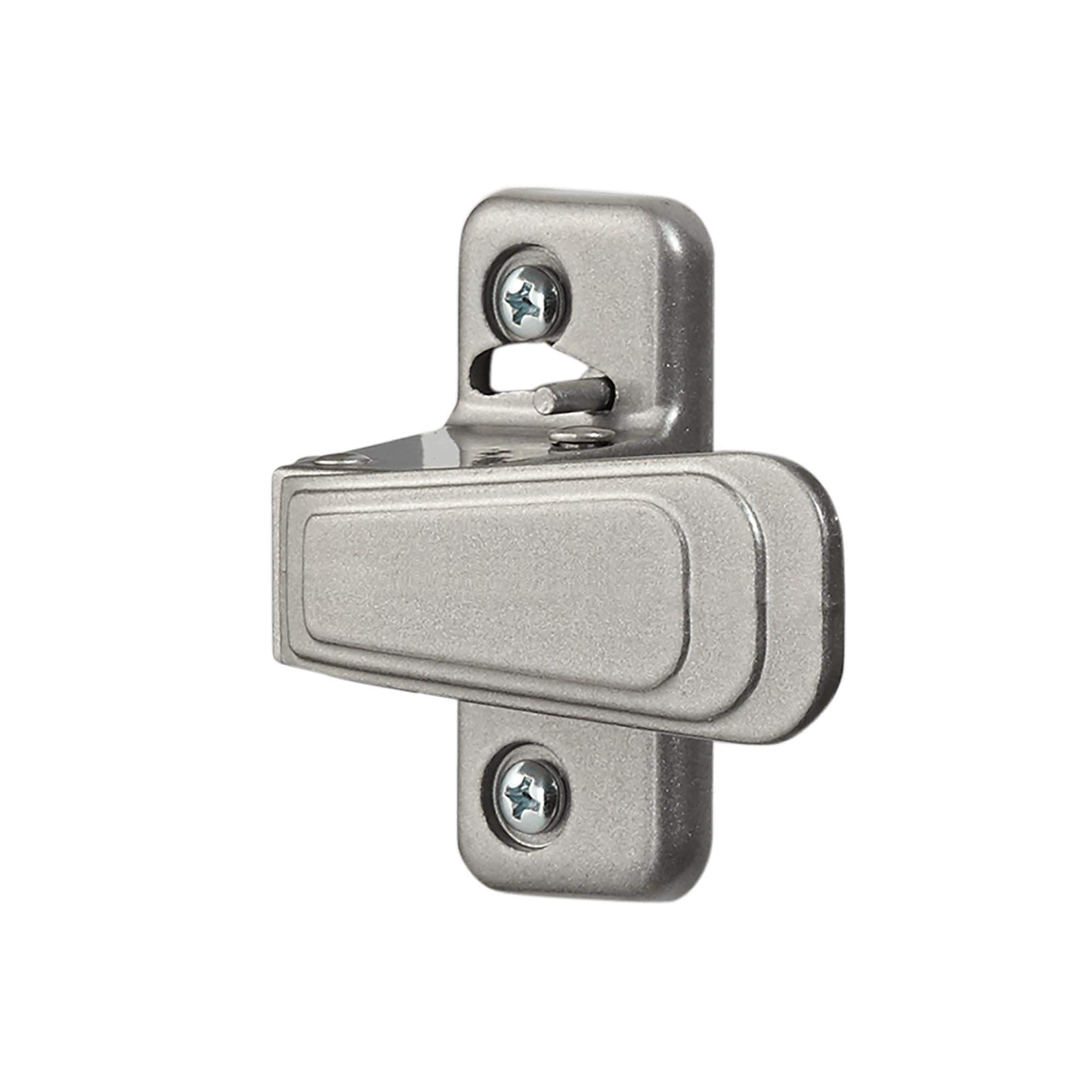Ideal SecurityWC Inside Latch For Storm and Screen DoorsWith Night Latch, Locks from Inside Only Silver