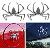 Danti 3d Spider Chrome Emblems Badges Sticker Silvery for Can am Spyder RT ST RS - Set of 2pcs