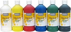 Handy Art Little Masters Tempera Paints Set, 16 oz, Pack of 6