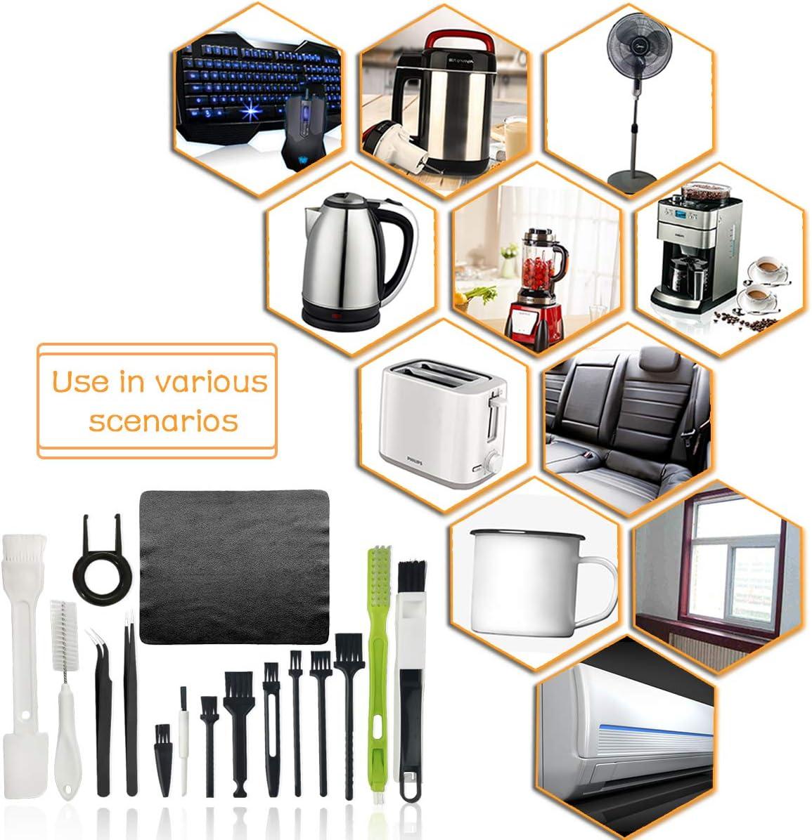 Tastatur-Reinigungsb/ürste Tastatur antistatische B/ürste f/ür Laptop Kunststoff PC-Reinigungsset PC und Computer