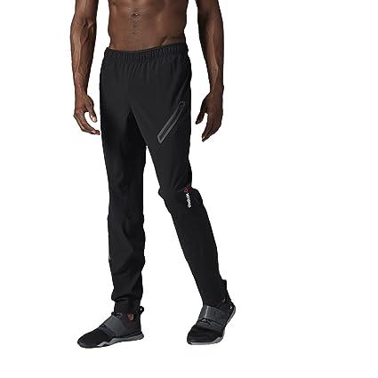 Reebok Men's One Series Woven Trackster Pants, Large, Black