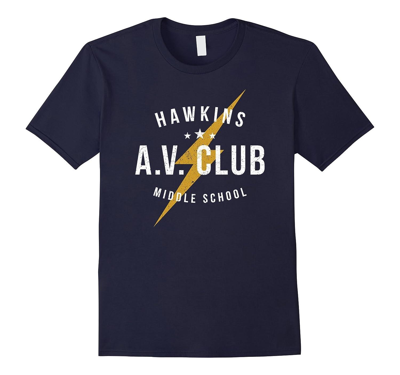Hawkins Middle School Av Club Shirt Stranger Of Things Av Bn