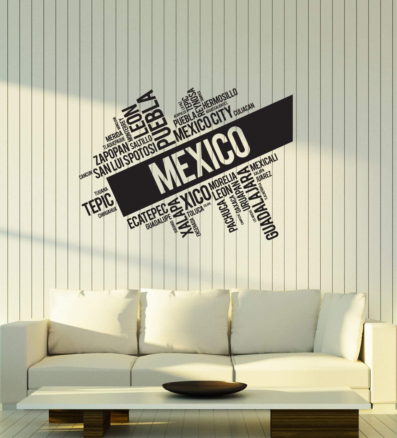 Amazon.com: Vinyl Wall Decal Mexico Words Cloud Mexican ...