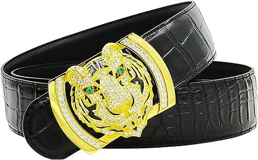 Luxury Men/'s Women Belt Handmade Medusa Genuine Leather Alloy Buckle Waist Belt