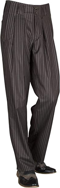 Retro-Vintage Stil Tanzhosen Neu H K Mandel Karierte Bundfaltenhose Herren