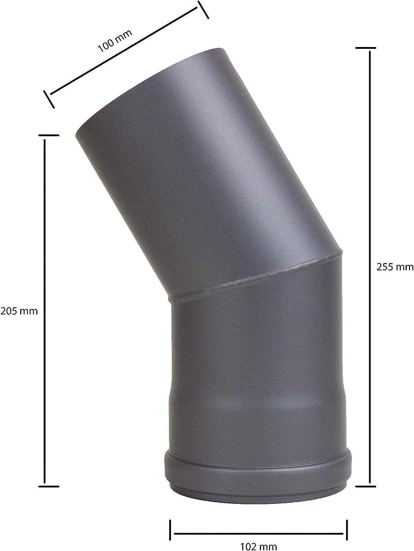 lanzzas Pellet Pell etrauch Tubo Pellet estufa de pellets Chimenea Tubo Expansi/ón Acero Blank sin lacar /Ø 100/Mm A /Ø 120/mm