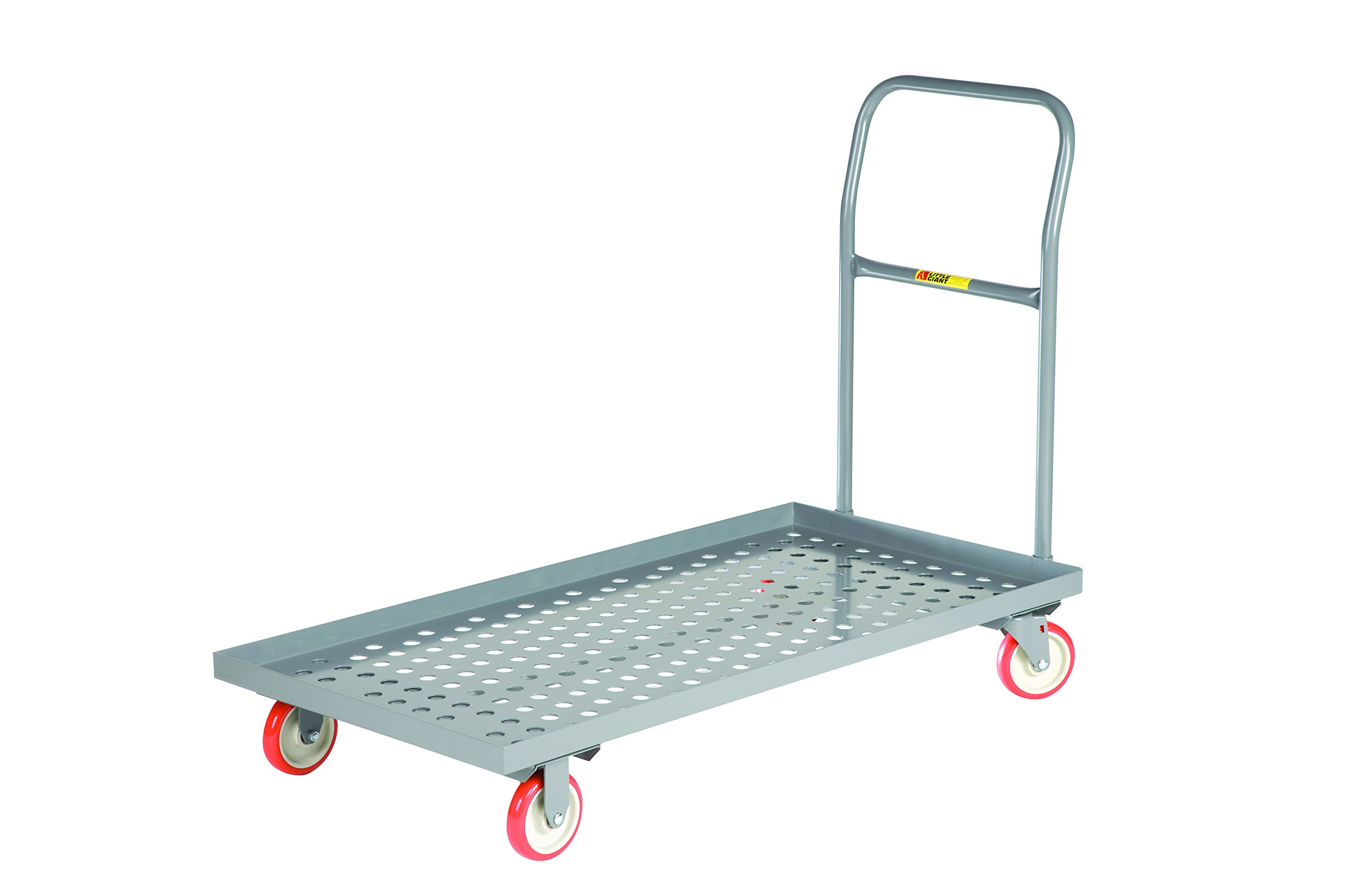 Little Giant T710-P-LU-UPS Platform Truck, 24'' x 36'', Gray