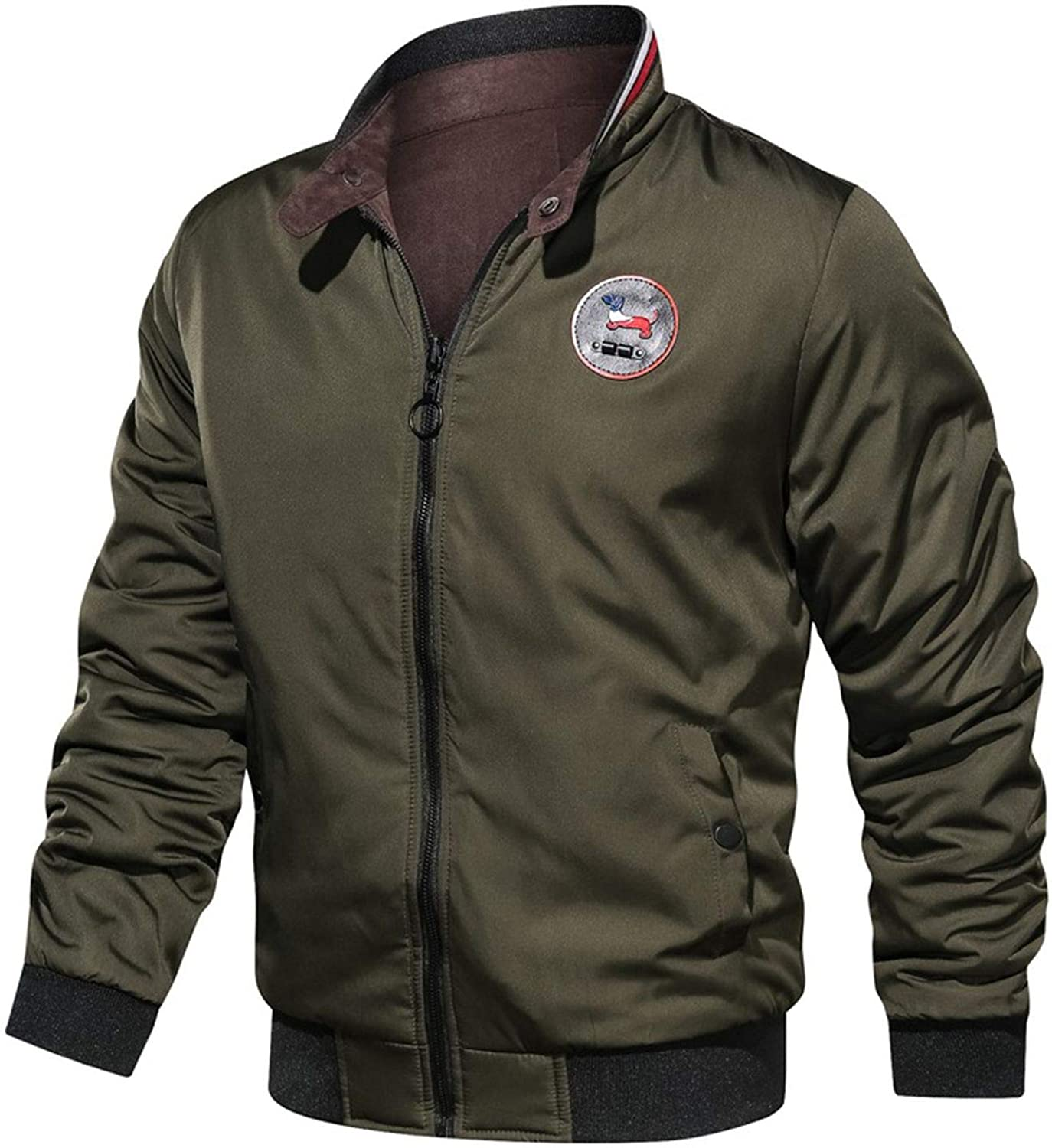 Thin Bomber Jacket for Us Air Force Pilot Flight Korean College Army Military Motorcycle Coats Outerwear 3XL