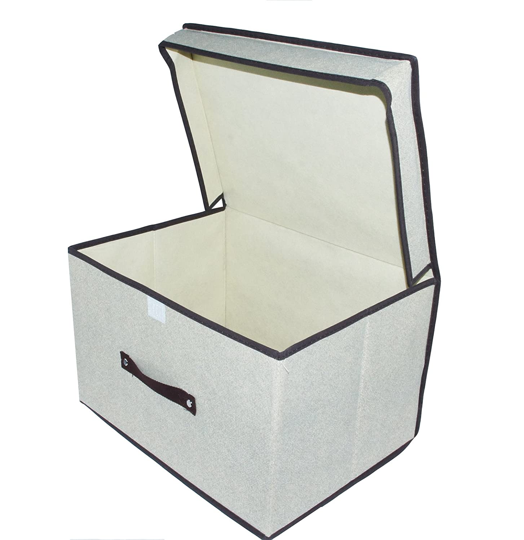 EM HOME Bolsa Organizador de Almacenaje Plegable GRIS, 40*30*25cm