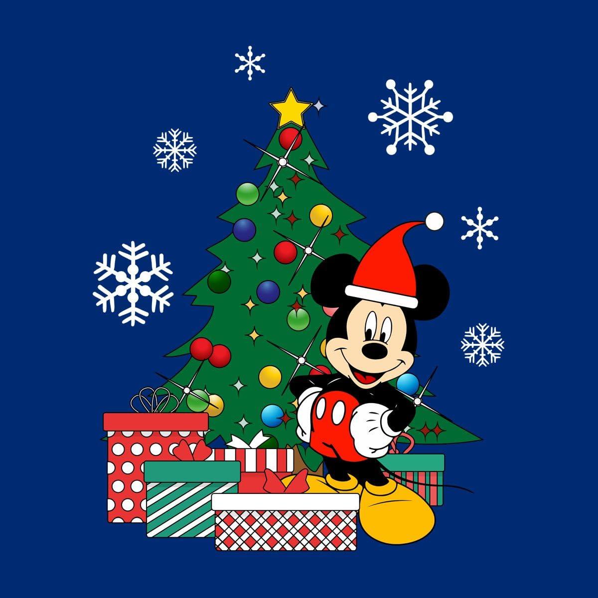 Mickey Mouse Christmas Tree Womens Sweatshirt