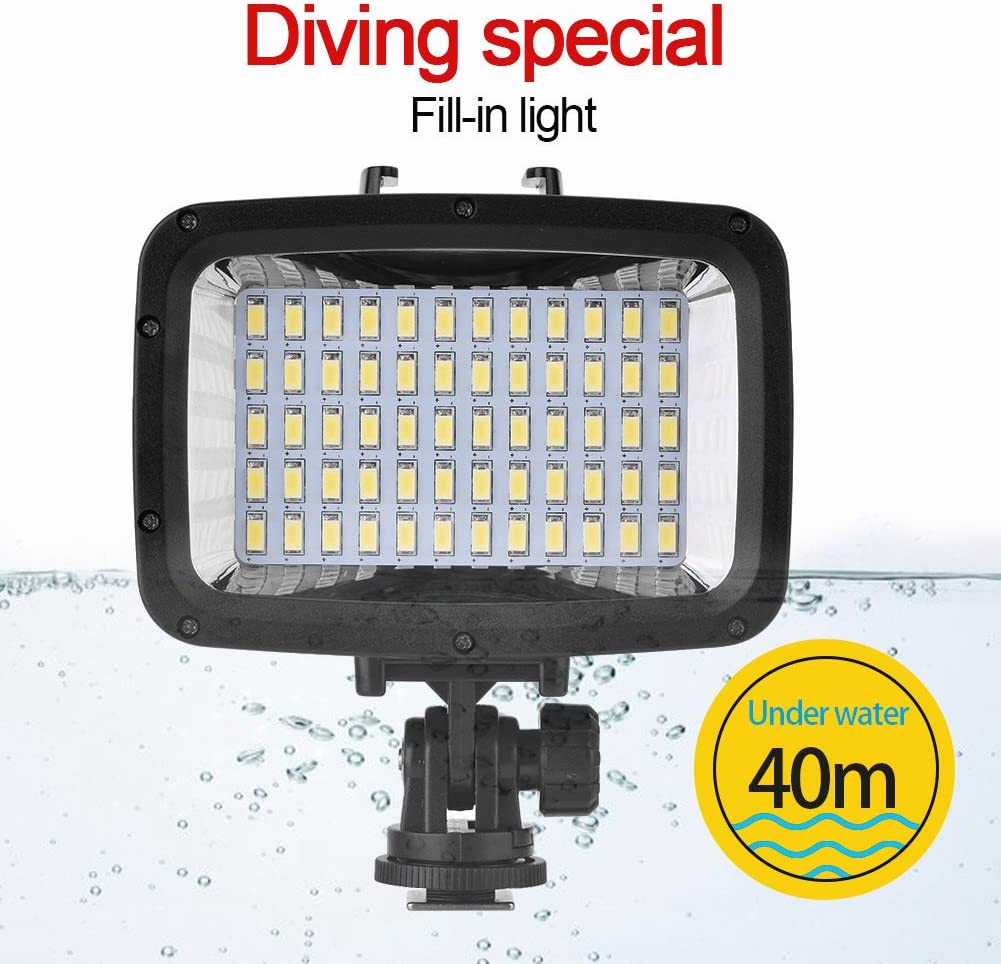 40m//130ft Underwater Waterproof Diving 60 LED Video Light Fill Lamp for Camera and Smartphone Zerone LED Waterproof Diving Lights
