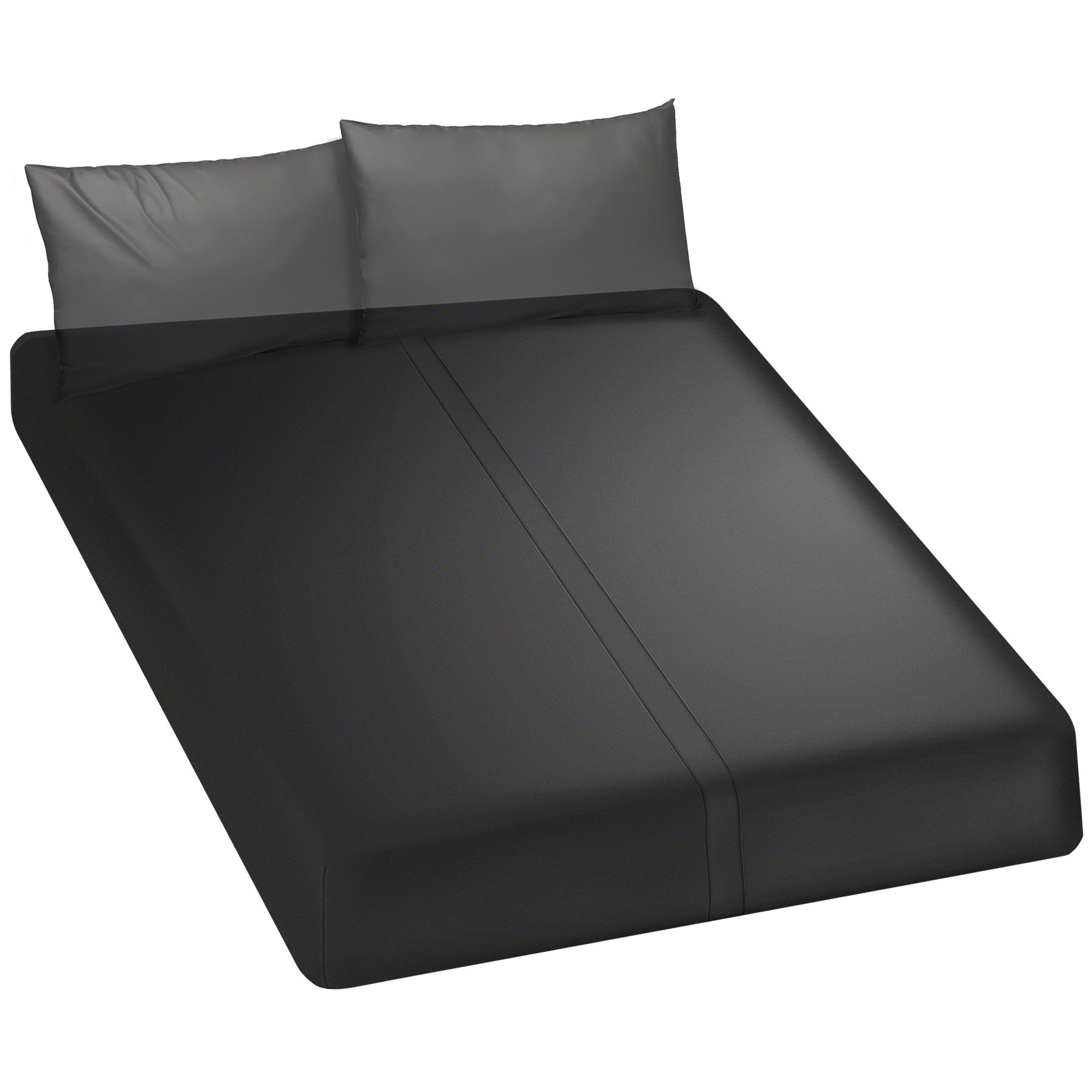 KINK By Doc Johnson Wet Works Fitted Waterproof Queen Sheet, Black by Doc Johnson