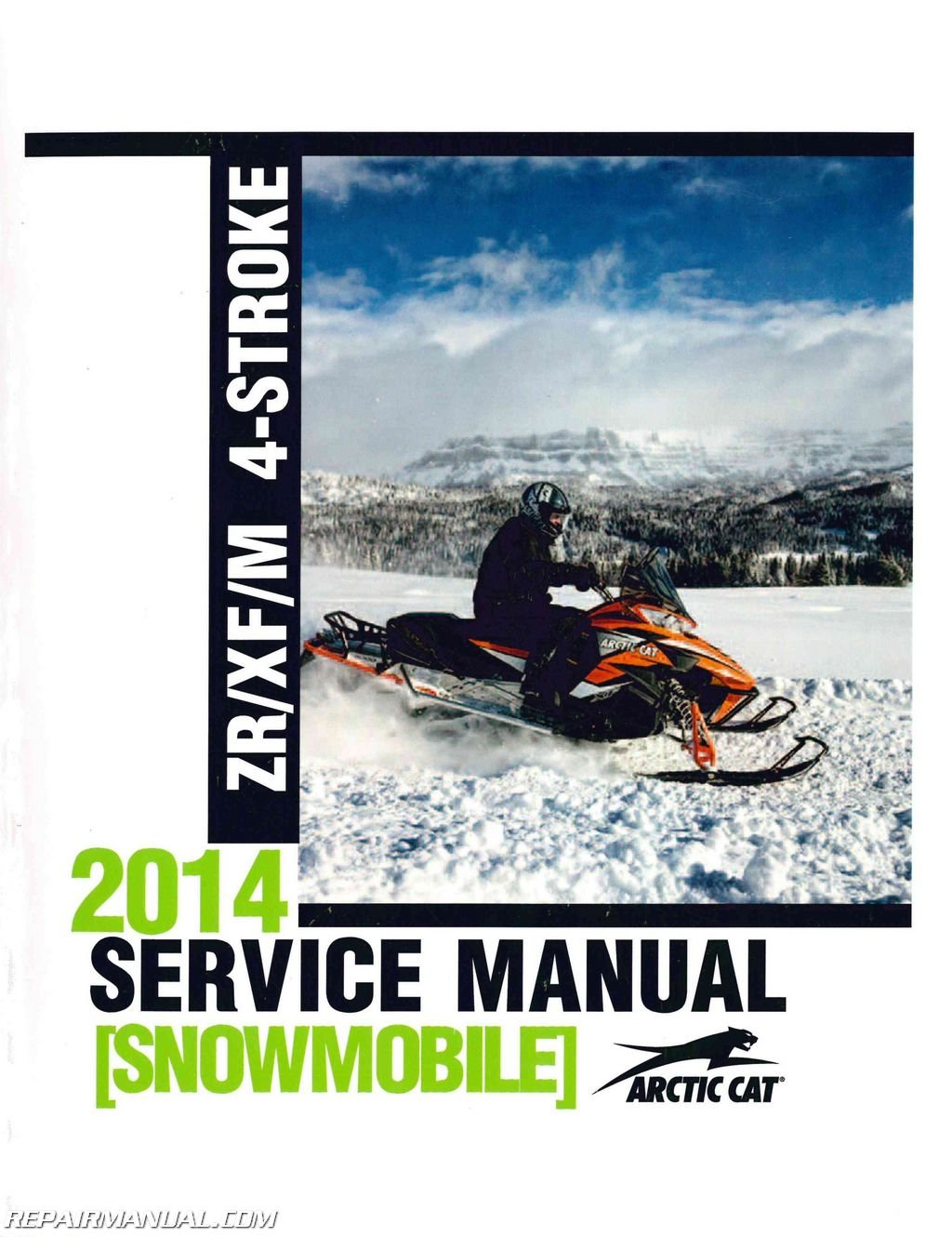 2260-188 2014 Arctic Cat ZR XF M 4 Stroke Snowmobile Service Manual ebook