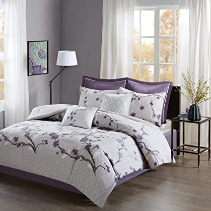 Amazon Com Madison Park Holly Cal King Size Bed Comforter Set Bed