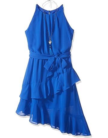 d9ec55bdd7e Amy Byer Girls  Big Sleeveless Dress with Asymmetrical Hem