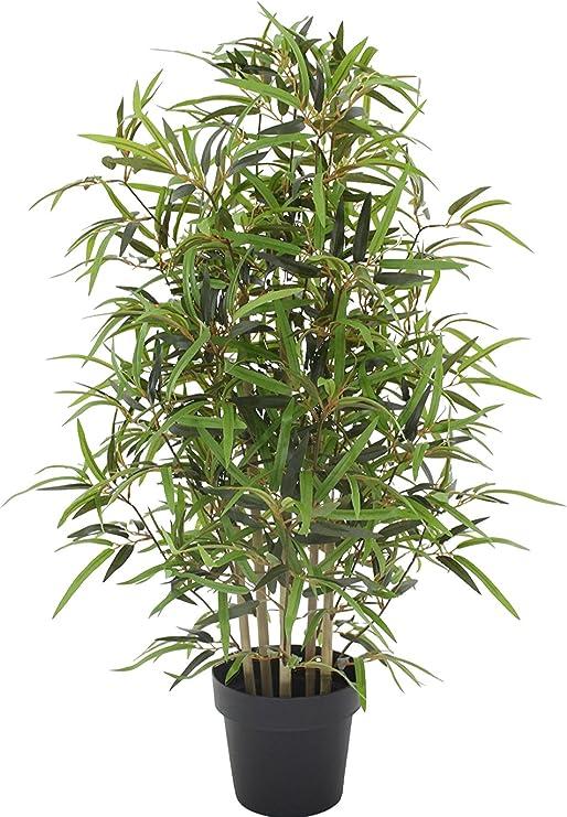 Bambu - Árbol artificial para decoración exterior con troncos reales - Resistente a los rayos U.V. Certificado TUV - Altura 100 cm: Amazon.es: Jardín