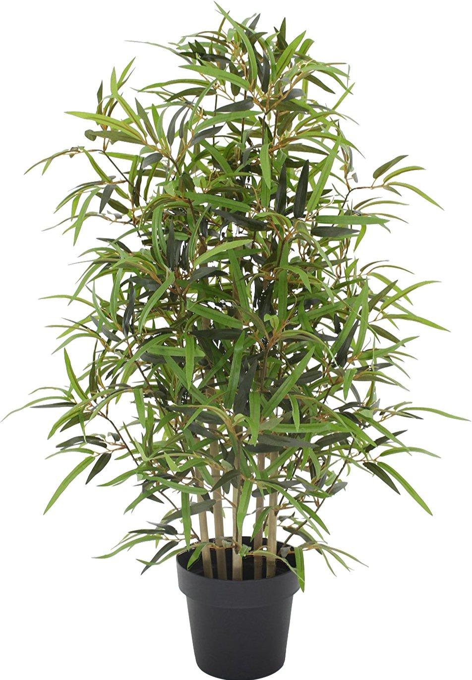 Bamboo Bambu - Albero Artificiale Da Arredo Esterno Con Tronchi Veri - Resistente Ai Raggi U.V. Certificato TUV - Alto 100 cm Verdevip