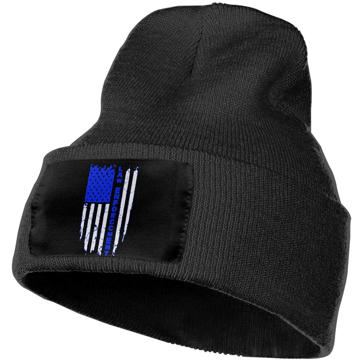 Law Enforcement Fashion Skull Beanie WHOO93@Y Mens and Womens 100/% Acrylic Knitted Hat Cap