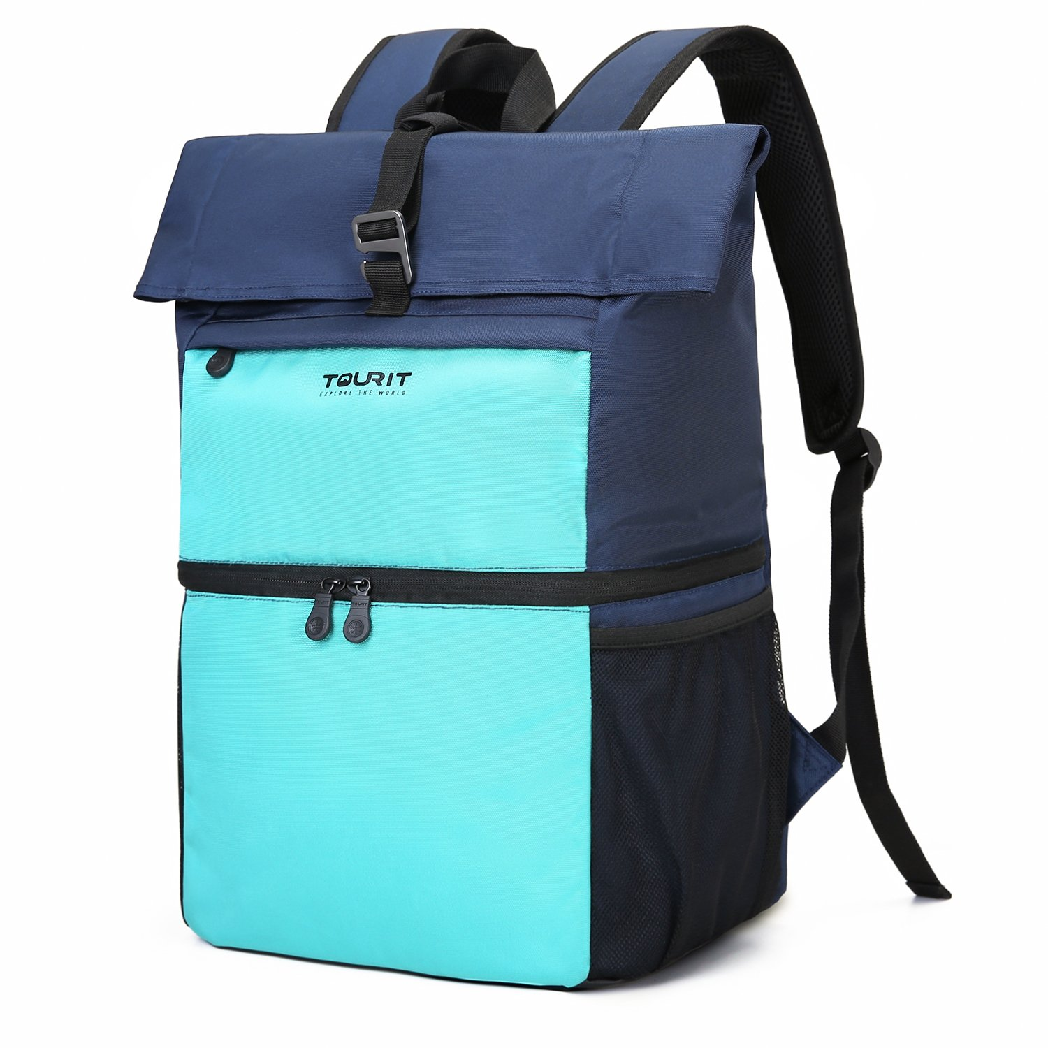 TOURIT Insulated Cooler Backpack Lunch Backpack Cooler Bag Light Backpack with Cooler for Men Women to Work, Picnics, Hiking, Camping, Beach, Park or Day Trips