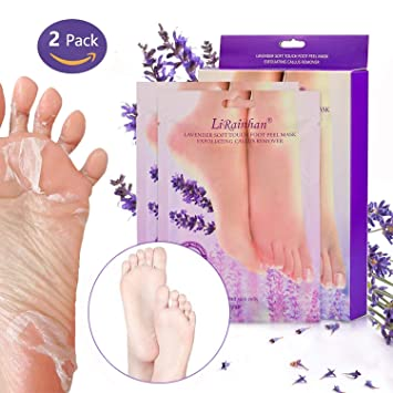 Exfoliante Pies, Calcetines Exfoliantes de Pies, 2 Pares Bolsa Exfoliante Pies, Exfoliating Foot
