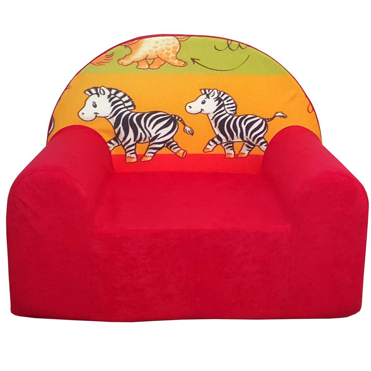 D2L infantil Sillón kinderstuhl kindersofa relaxsessel (Rojo ...