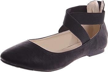 d40a12033654 Steven Ella Women s Fashion Ballet Flats Criss Cross Ankle Strap Dress Shoe
