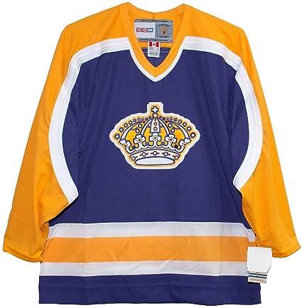 13863b3e Amazon.com : Vintage Los Angeles Kings 1980-88 Purple CCM Jersey ...