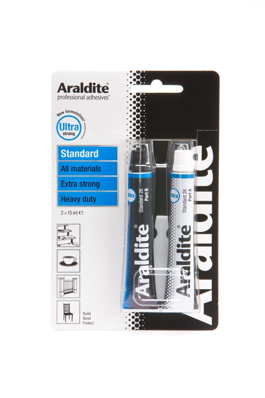 3 X Araldite ARA-400001 15ml 2-Tubes Standard Epoxy