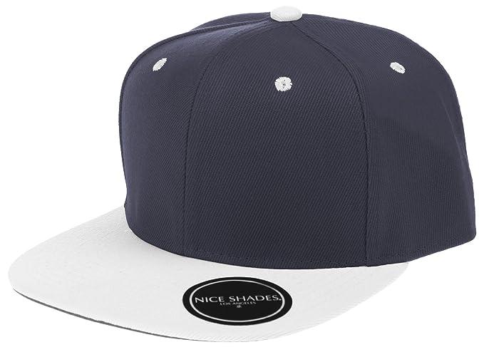 Nice Shades Plain Adjustable Snapback Hats Caps (Many Colors) Navy ... cf5014a92e0