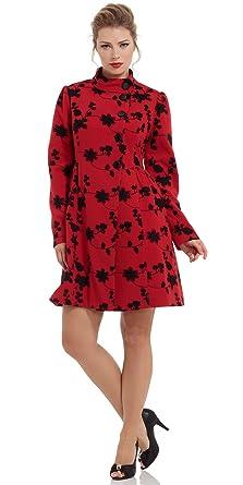 Voodoo Vixen - Abrigo - para Mujer Rojo S