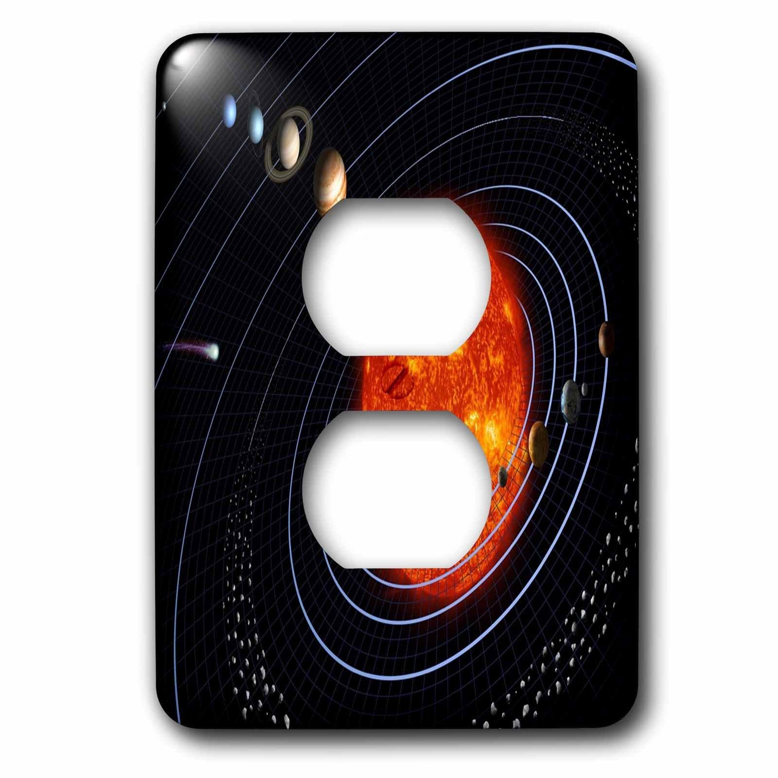 3dRose LLC lsp_80606_6 Nasa Diagram of Planet N Solar System 2 Plug Outlet Cover