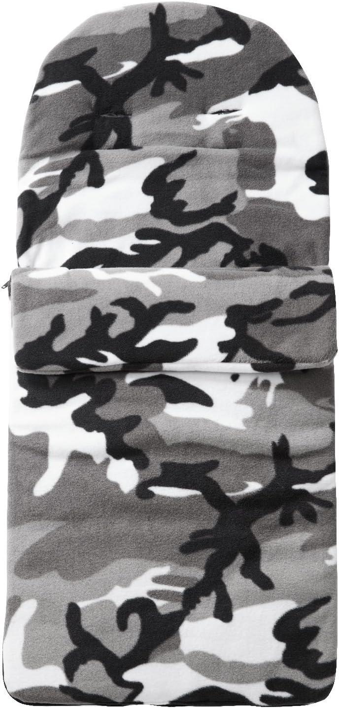 Grey Camouflage FYLO Fleece Footmuff Compatible with Joie Litetrax Mirus Nitro System