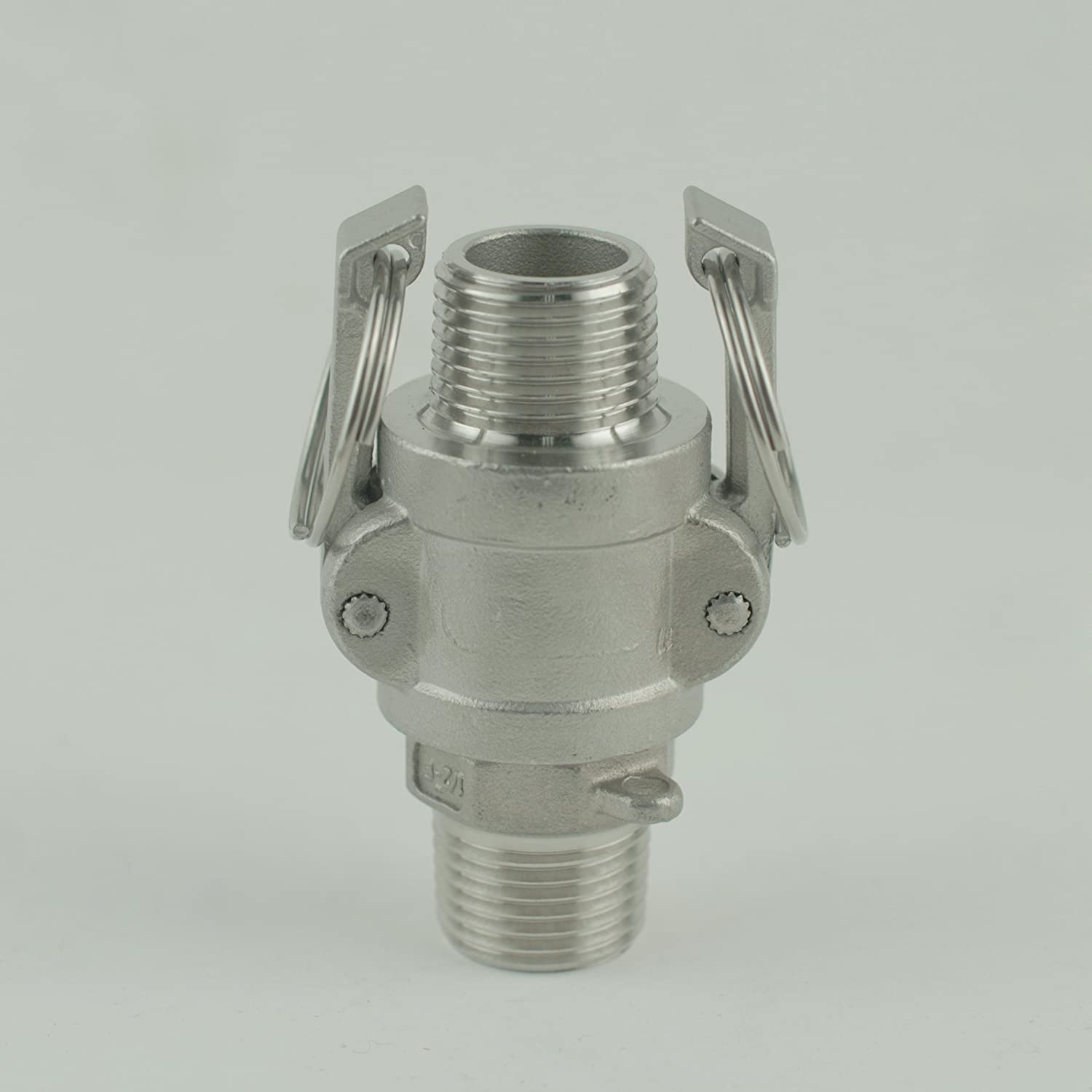 Heavy Duty 1//2 In.Weldless Stainless Steel Ball Valve  With High Flow Elbow Barb