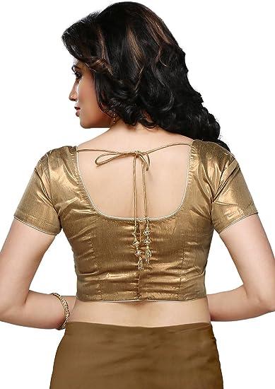 Utsav Fashion Shimmer Art Silk Blouse in Copper