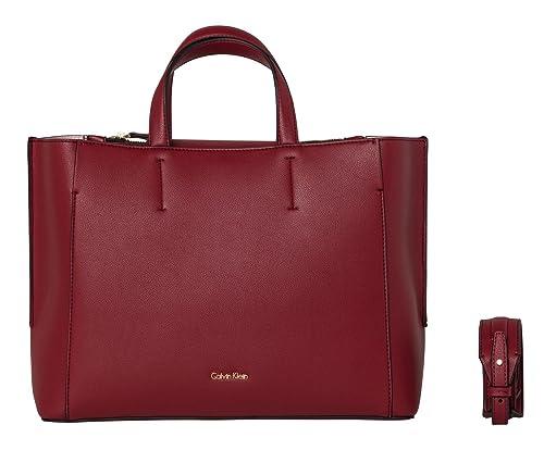 89b85d0d625e Calvin Klein Metropolitan Tote Red Dahlia   Pastel Pink  Amazon.co.uk   Shoes   Bags
