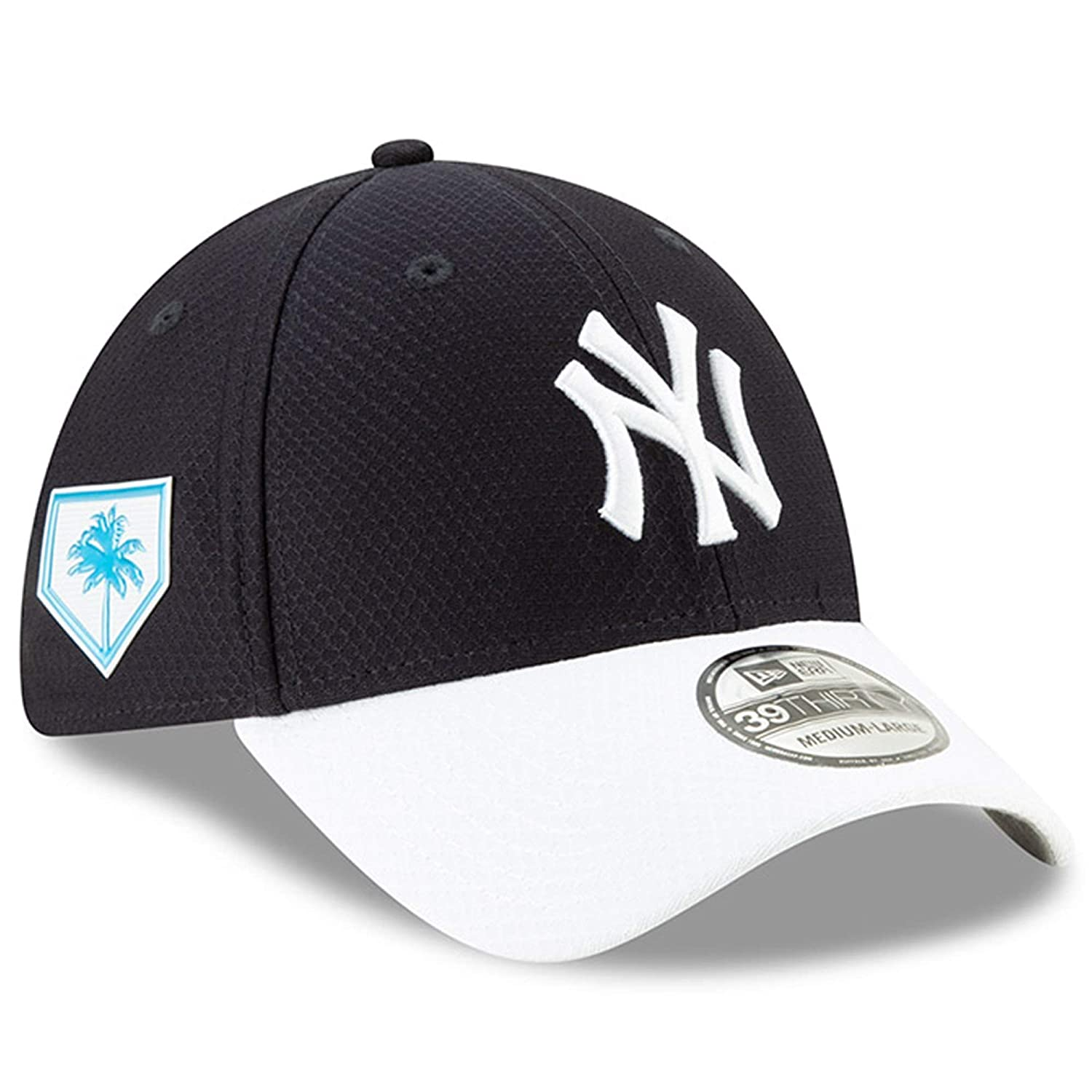 0c19de2aedf Amazon.com   New Era Men s New York Yankees Navy 2019 Spring Training  39THIRTY Fitted Hat   Sports   Outdoors