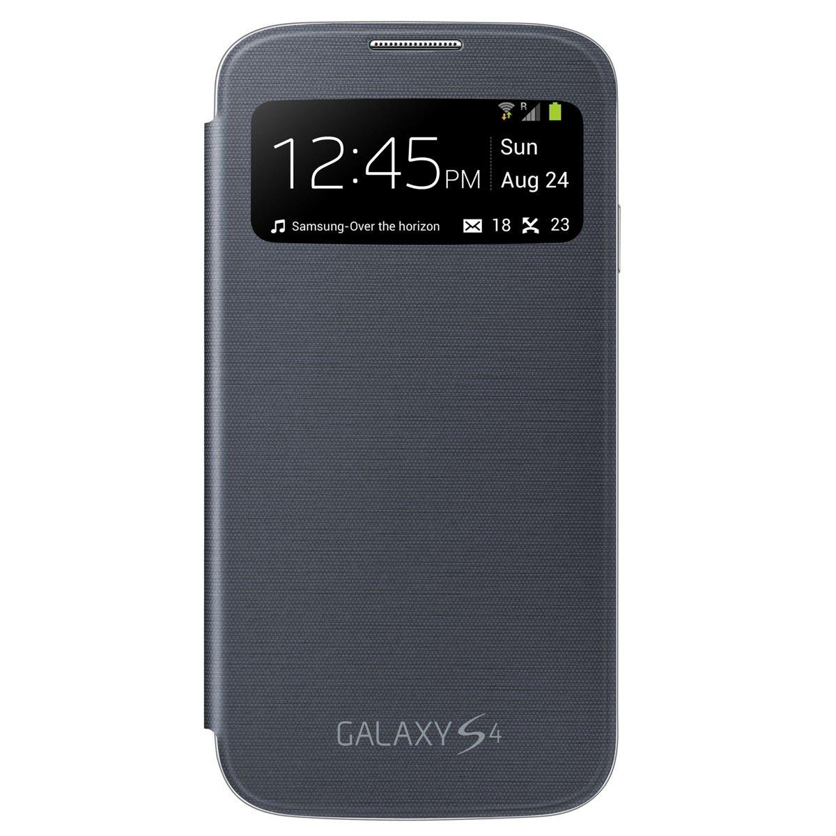 the best attitude bc9fc 24561 Samsung Galaxy S4 S-View Flip Cover Folio Case (Black)